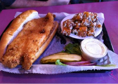 flounder sandwich